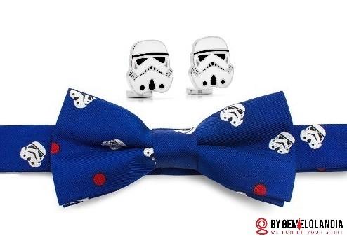 Gemelolandia - Gemelos para Comunión - Gemelos para camisas - Más gemelos para comunión - Gemelos Star Wars - Pajarita de Star Wars - Stormtrooper - Gemelos para niños - Solo gemelos originales