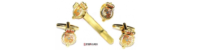 Gemelos de camisa con escudo de armas de SM el Rey Felipe VI