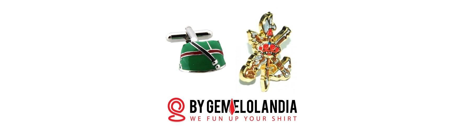 En Gemelolandia reconocemos, agradecemos y celebramos la labor de la Legión Española (y del resto de los cuerpos de nuestros Ejércitos). Gemelolandia - Gemelos para camisas - Gemelos Chapiri legionario - Gemelos escudo Legión Española - Tercio - Gemelos Legión