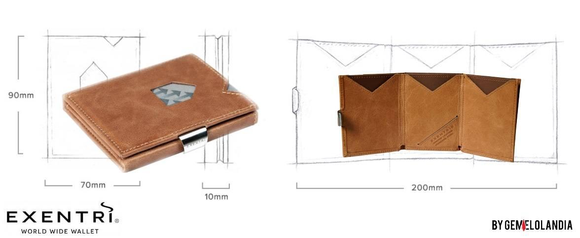 Cartera Exentri piel marron Modelo Hazelnut RFID. EX 030 - Hazelnut - Con sistema de Proteccion RFID: protege tarjetas contactless bloqueando acceso remoto - Cartera para hombre