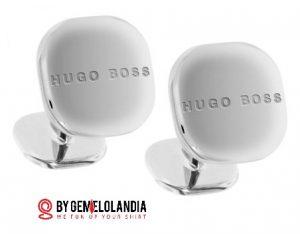 Gemelos Hugo Boss modelo Mario color acero - Gemelos Hugo Boss para bodas - Gemelos Hugo Boss - Hugo Boss - Gemelos para bodas - Gemelolandia