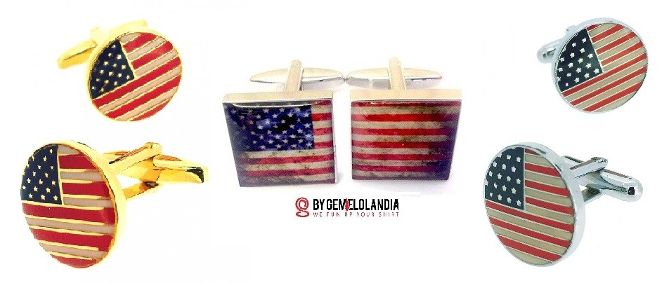 Happy 4th of July – Gemelos bandera Estados Unidos