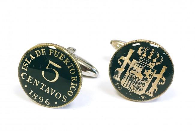 Sofisticados y elegantes gemelos monedas