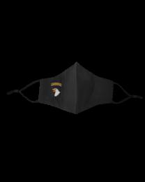 Mascarilla Reutilizable y ajustable de Algodón Color Negro 101 Airborne