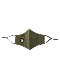 Mascarilla Reutilizable y ajustable de Algodón Color Verde Militar 101 Airborne