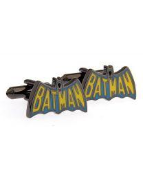 Gemelos para camisa Batman Logo Retro Acero Negro