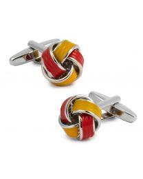 Gemelos para camisa Nudo Esmaltados Rojo y Amarillo - Colores de España
