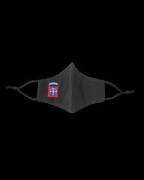 Mascarilla Reutilizable y ajustable de Algodón Color Negro 82nd Airborne US Division