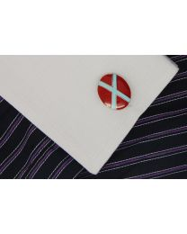 Gemelos para camisa Bandera Red and Blue Cross
