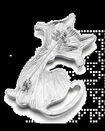 Broche Gato Negro Cristal 5,4 x 3,5cm