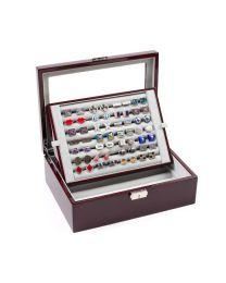 Caja de Coleccionista de Gemelos 70 pares Color Granate
