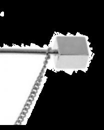 Collar Bar Alfiler de Cuello Square Plated End with Chain