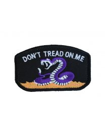Parche Hook and Loop Dont tread on me- Color Negro - 78x49mm