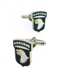 Gemelos de Camisa 101 Division Americana Aerotransportada 101st US Airborne Division Cufflinks