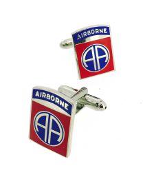 Gemelos de Camisa 82 Division Aerotransportada USA The 82nd Airborne Division US Cufflinks