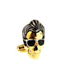 Gemelos de camisa Rock & Roll Skull
