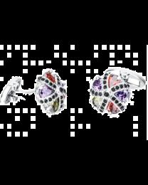 Gemelos para Camisa Luxury Zircon Colorful Crystal