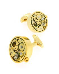 Gemelos para Camisa Mecanismo Gold Rounded Mod II