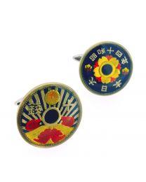 Gemelos para Camisa Moneda Japonesa Sol Naciente