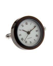 Gemelos Reloj de Cuarzo Modelo Acero Negro
