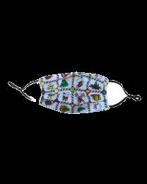Mascarilla Reutilizable y ajustable de Algodón para Niños Modelo Arbol Navidad