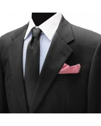 Pañuelo de traje Ox & Bull Red Gingham Cotton Pocket Square