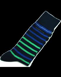 Pack 2 pares de Calcetines de Caballero Hugo Boss Talla 39-42 Navy & Navy Stripes