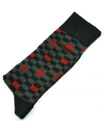 Pack 2 pares de Calcetines de Caballero Hugo Boss Talla 43-46 Red & Red and Grey Square