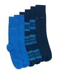 Pack Calcetines Hugo Boss 3 pares Cotton blend socks in a triple pack: 'S 3P Design Box' by BOSS