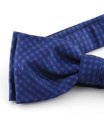Pajarita Seda 100% HUGO Navy and Blue Diamonds 50312682 Bow Tie