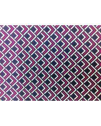 Pañuelo de Bolsillo HUGO de Seda Pura Morado y Marino 50333629 33x33 cm