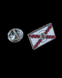 Pack 5 Pins de Solapa Detente Sagrado Corazon Aspa Borgoña 18x11mm