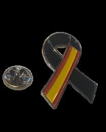 Pack 5 Pins de Solapa Lazo Negro España Black Ribbon Spain 30x25 mm