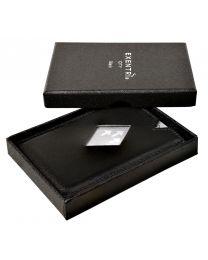 Tarjetero Exentri negro para 3 tarjetas CITY BLACK