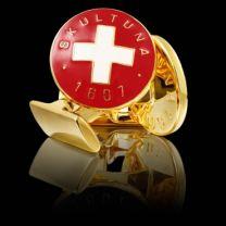 Gemelo Skultuna Cruz Suiza Roja y Blanca