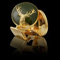 Gemelos Skultuna Serie The Hunter The Deer Gold - El Venado Dorado
