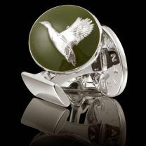 Gemelos Skultuna Serie The Hunter The Flying Duck - El Pato Volando Plateado