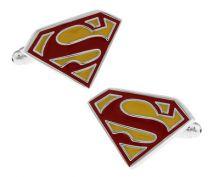 Gemelos para camisa Superman Amarillo y Rojo