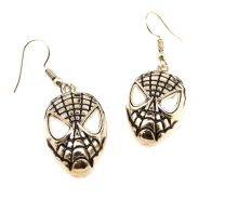 Pendientes Spiderman Plated Face 22x15mm