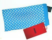 Pañuelo de Bolsillo HUGO de Seda Pura Azul Cielo Estampado Blanco 33x33 cm