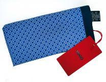 Pañuelo de Bolsillo HUGO de Seda Pura Marino Estampado azul 33x33 cm