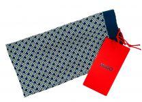 Pañuelo de Bolsillo HUGO de Seda Pura Marino Estampado amarillo 33x33 cm