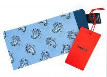 Pañuelo de Bolsillo HUGO de Seda Pura Cashmere azul 33x33 cm