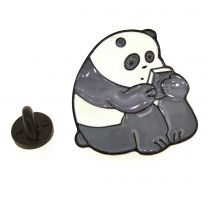 Pin de solapa Osito Panda 30x30mm