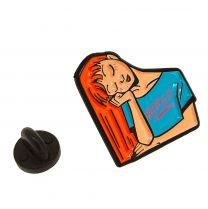 Pin de solapa Bored Girl Face 26x25mm