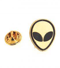 Pin de solapa Alien Face Dorado 20x16mm