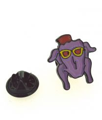 Pin de solapa Friends Pollo con Gafas 18x17mm