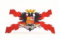 Imán Aspa de Borgoña con Aguila bicefala de Carlos V 7,9x5,4cm
