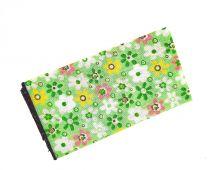 Pañuelo de Algodon Verde Estampado Flores 23x23cm