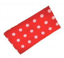 Pañuelo de Algodon Rojo Brillo Topos Grises 23x23cm